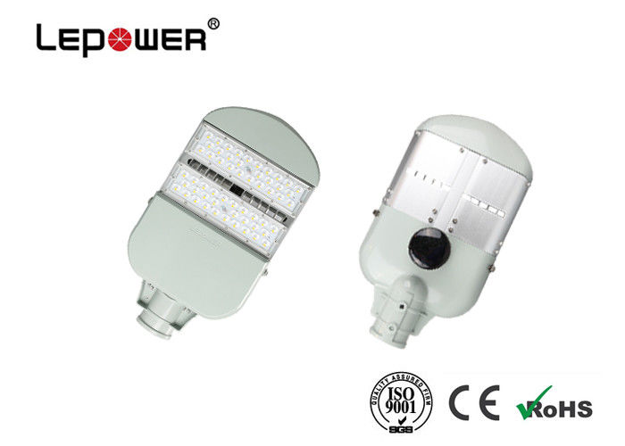 80w Bridgelux Chip Smart LED Street Lights 12800lm Lumen Flux Aluminum Body Material